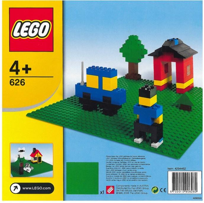 Lego 626 Building Plate, Green image
