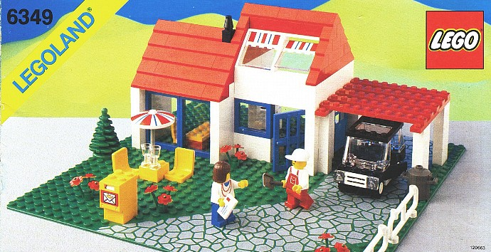 6349 1 holiday villa brickset lego set guide and database for Classic house from the 90s