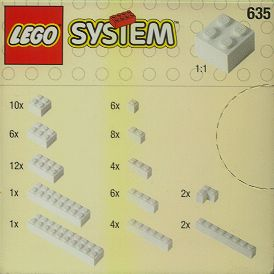 Lego 635 Extra Bricks in White image