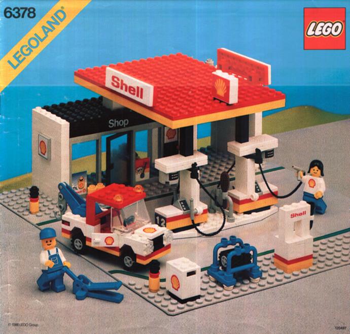 6378 1 shell service station brickset lego set guide. Black Bedroom Furniture Sets. Home Design Ideas