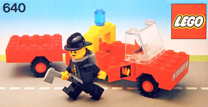 Lego 640 Fire Truck and Trailer image
