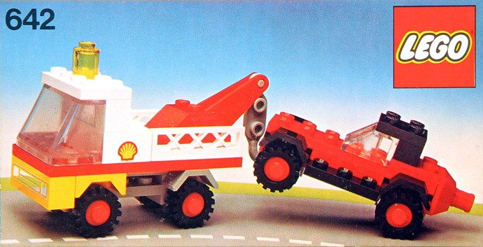 Lego 642 Tow Truck and Car image