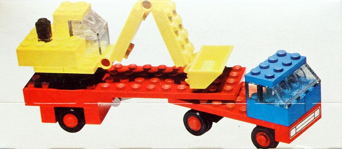 Lego 649 Low loader with excavator image