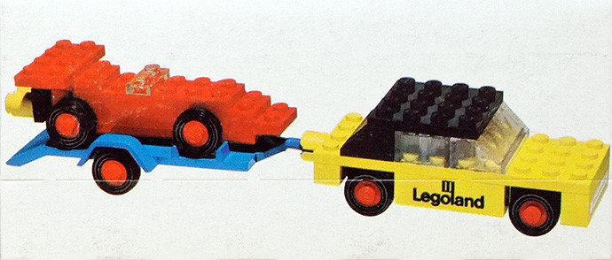 Lego 650 Car with trailer and racing car image