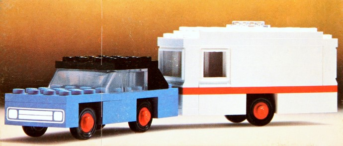 Lego 656 Car and Caravan image