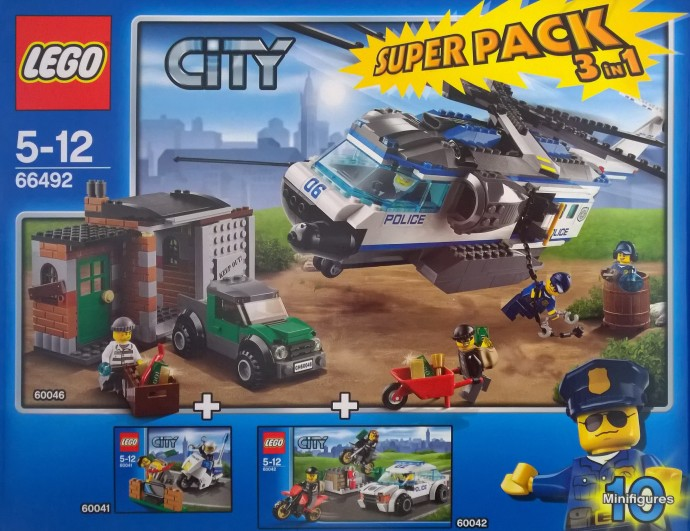 66492-1: City Police Value Pack | Brickset: LEGO set guide and database