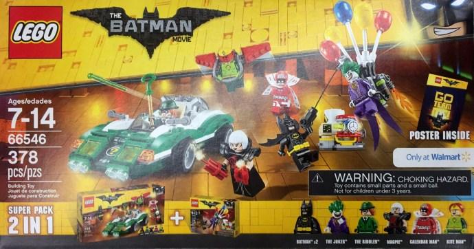 66546 1 The Lego Batman Movie Super Pack 2 In 1