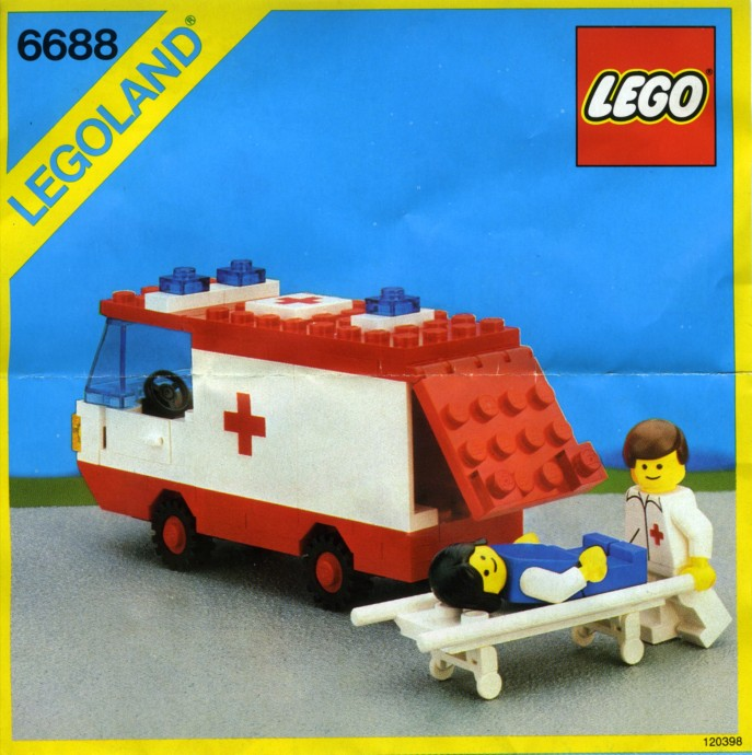 6688 1 ambulance brickset lego set guide and database - Lego ambulance ...