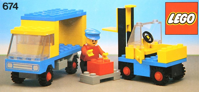 Lego 674 Forklift and Truck image