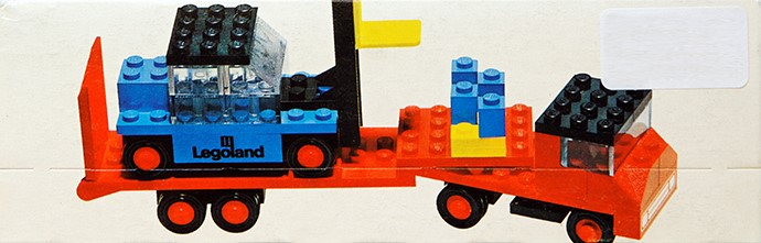 Lego 684 Low-Loader Truck with Forklift image