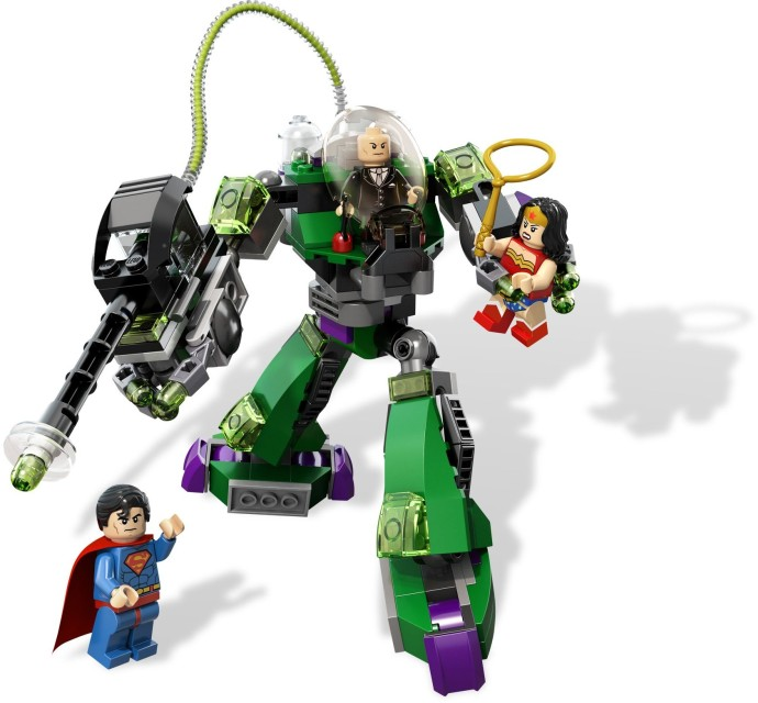 Superman vs wonder minifig! LEGO SUPER HEROES LEX LUTHOR minifigure from 6862