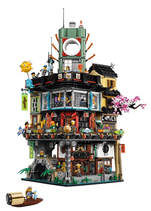 2 1x8x2 Black Fence Brick w// tube design ~ Lego ~ NEW ~ Railing