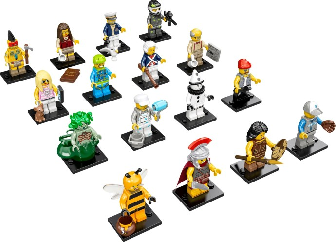 Lego 71001 LEGO Collectable Minifigures Series 10 - Complete (except Mr. Gold) image