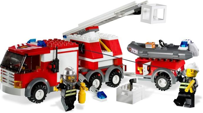 lego fire truck instructions 7208
