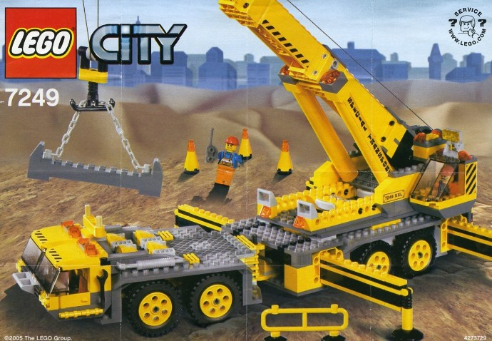 7249 1 xxl mobile crane brickset lego set guide and database. Black Bedroom Furniture Sets. Home Design Ideas
