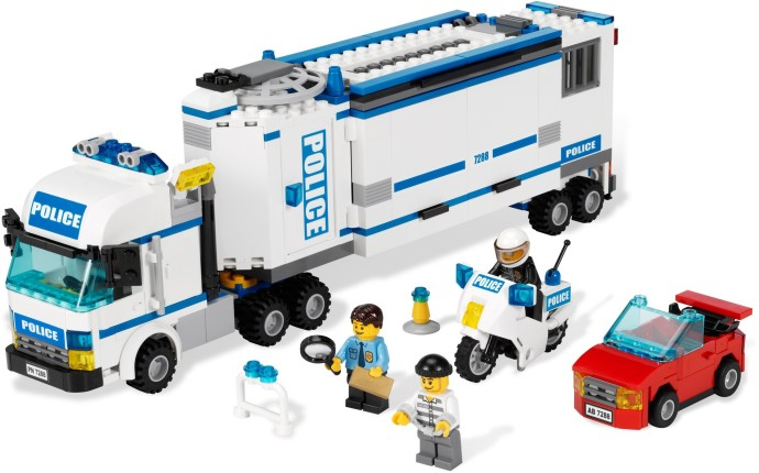 7288 1 mobile police unit brickset lego set guide and database - Lego city camion de police ...