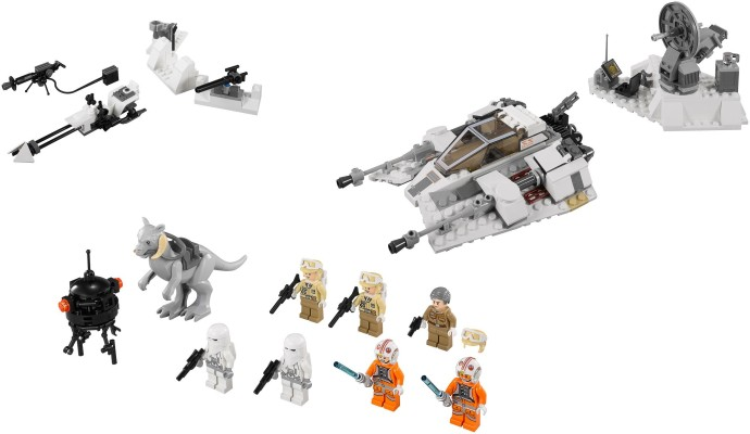 lego snowtrooper battle pack instructions