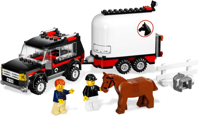 Police Car Web Site >> 7635-1: 4WD with Horse Trailer | Brickset: LEGO set guide and database
