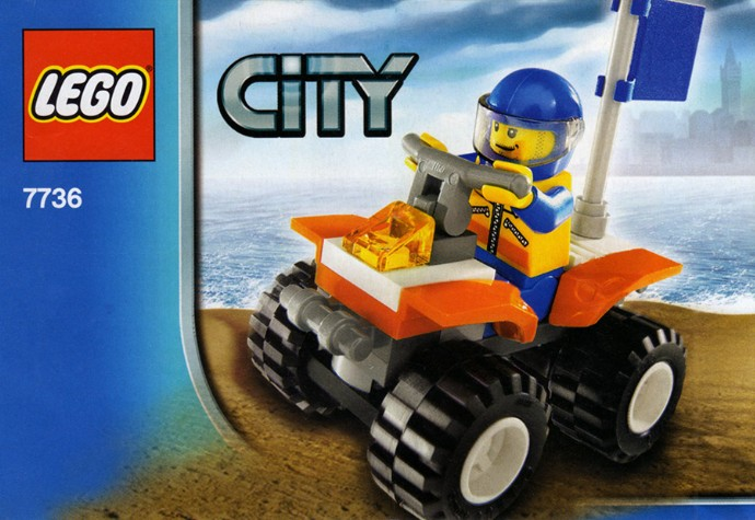 7736 1 Coast Guard Quad Bike Brickset Lego Set Guide