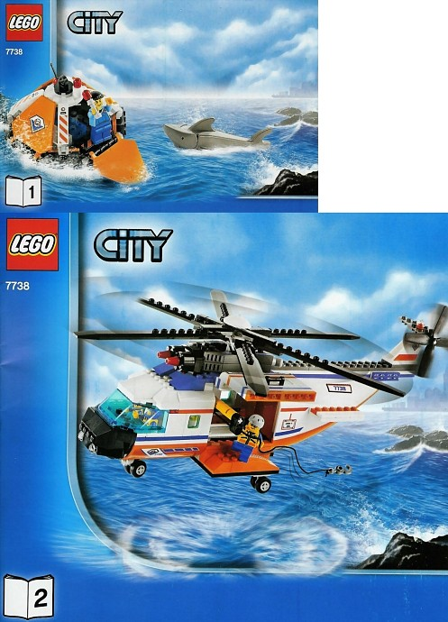 Lego 7738 Coast Guard Helicopter & Life Raft