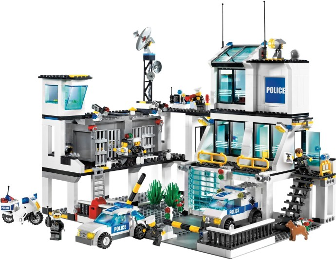 7744 1 police headquarters brickset lego set guide and database. Black Bedroom Furniture Sets. Home Design Ideas