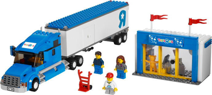 Toys R Us Legos For Girls : Toys r us city truck brickset lego set guide