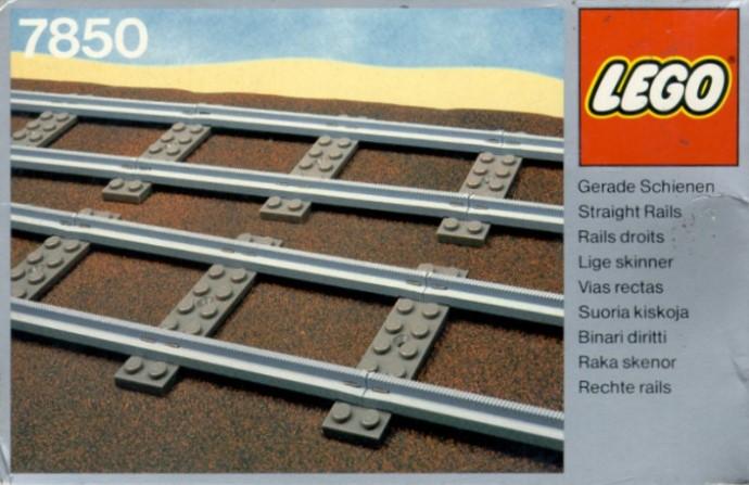 Lego 7850 8 Straight Rails Grey 4.5 V image