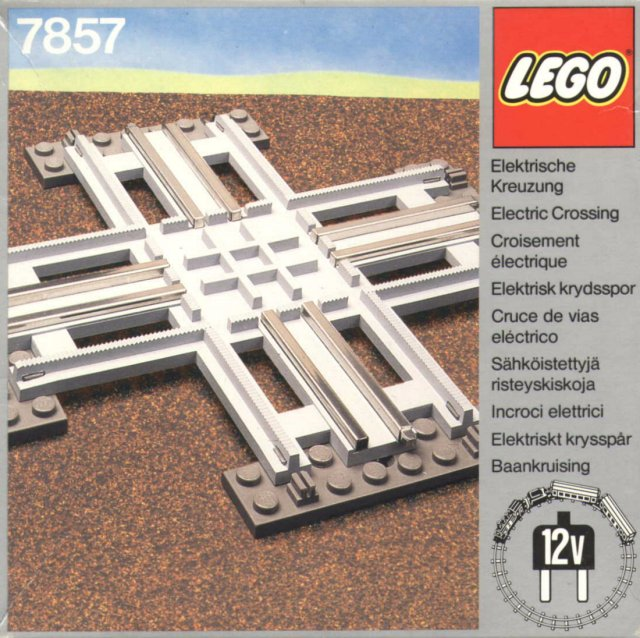 Lego 7857 Crossing, Electric Rails Grey 12 V image