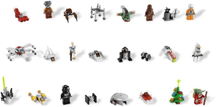 7958 1 Star Wars Advent Calendar Brickset Lego Set Guide And