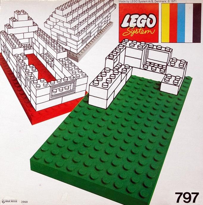 Lego 797 2 Large Baseplates, Grey/White image