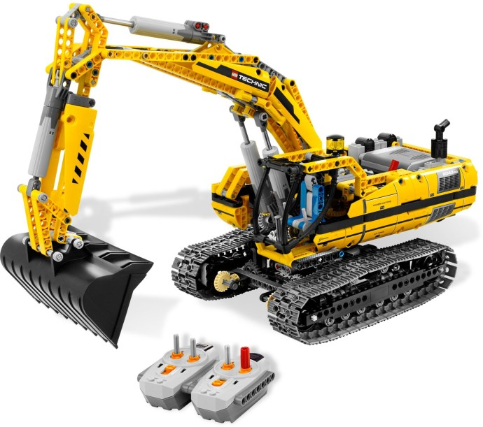 8043 1 motorized excavator brickset lego set guide and. Black Bedroom Furniture Sets. Home Design Ideas