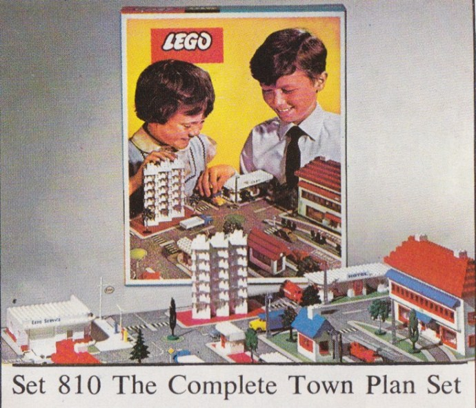 Lego 810 Town Plan - UK, Cardboard box image