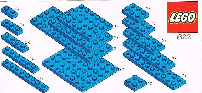 Изображение набора Лего 822 Blue Plates Parts Pack