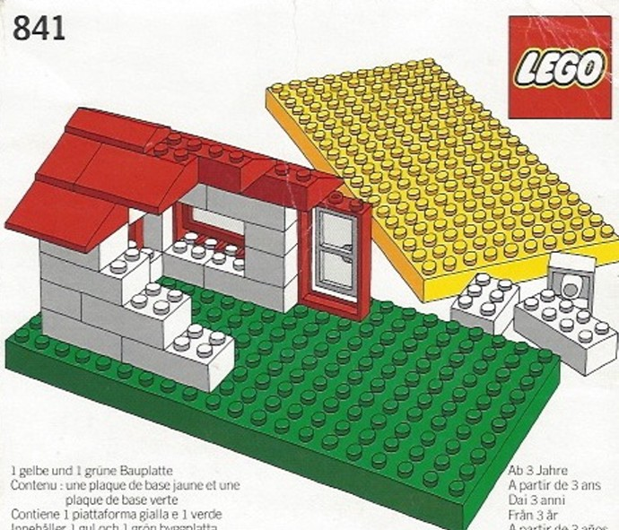 Lego 841 Baseplates, Green and Yellow image