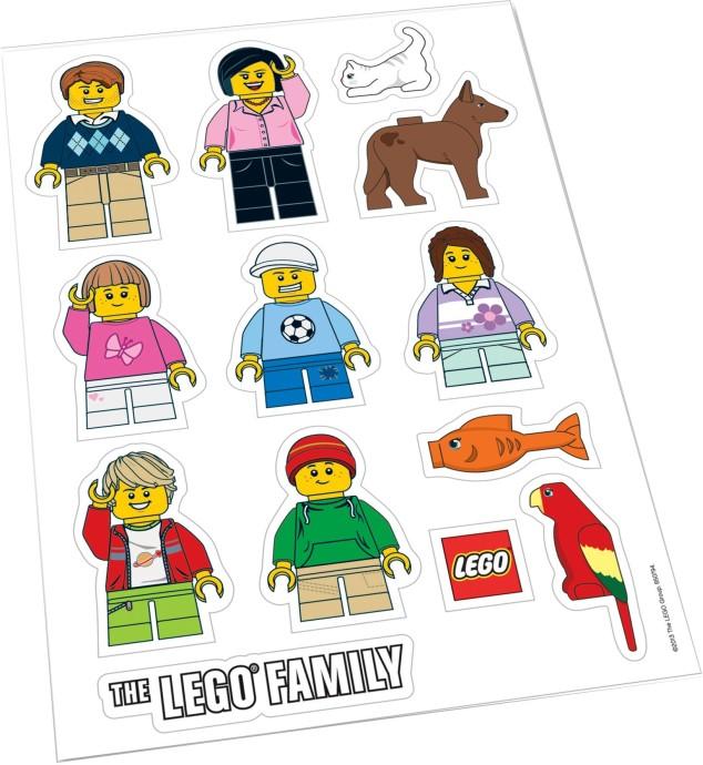 850794-1: LEGO Family Car Stickers   Brickset: LEGO set guide and ...