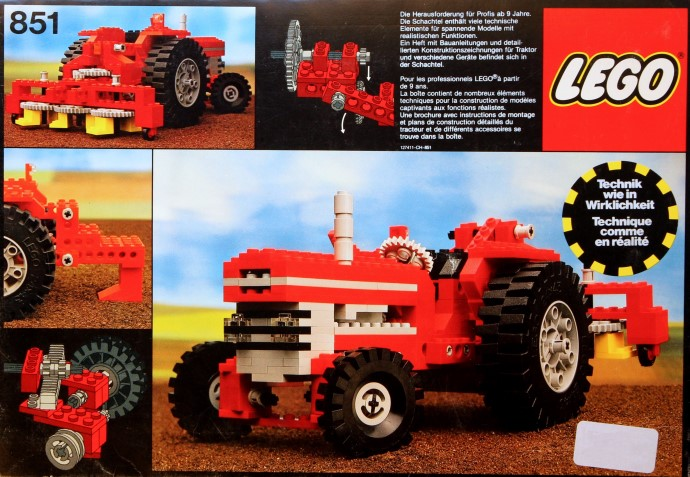851 1 Tractor Brickset Lego Set Guide And Database