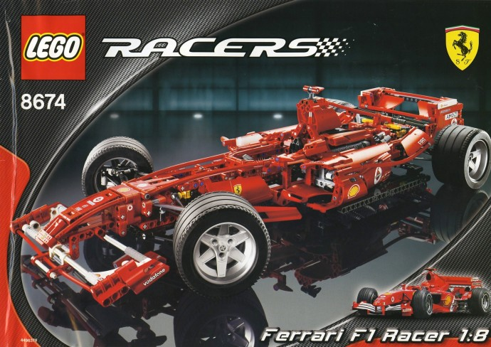 8674 Ferrari F1 Racer 1 8 Brickset Lego Set Guide And Database