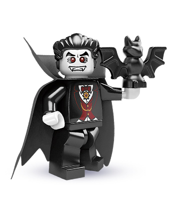 Lego White Minifig Head Vampire Fangs Red Eyes Dracula