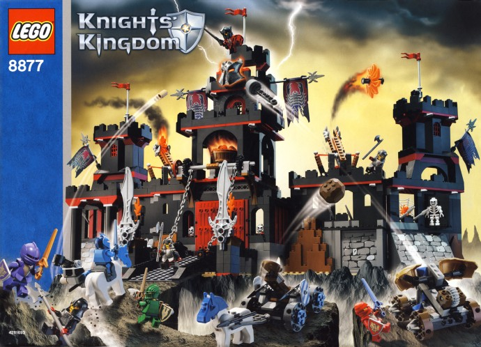 Lego 6 New 8X8 Dark Red Plates Castle Knights Kingdom Vladek/'s Dark Fortress