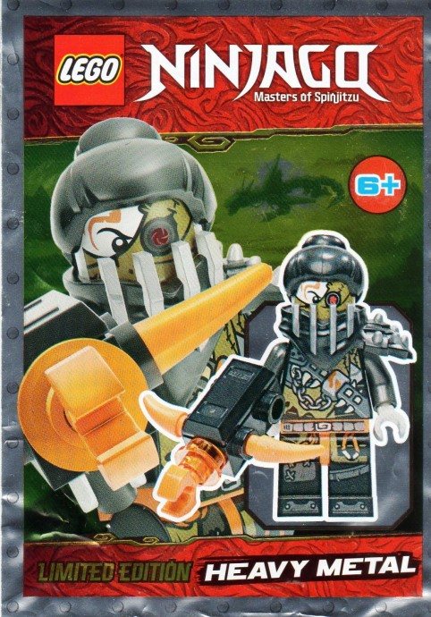 in Polybag LEGO NINJAGO: HEAVY METAL BUFFER with weapons LIMITED
