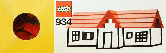 Изображение набора Лего 934 Roof Bricks, 45°