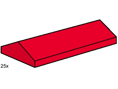 Lego B005 2 x 4 Ridge Roof Tiles, Low Sloped Red image