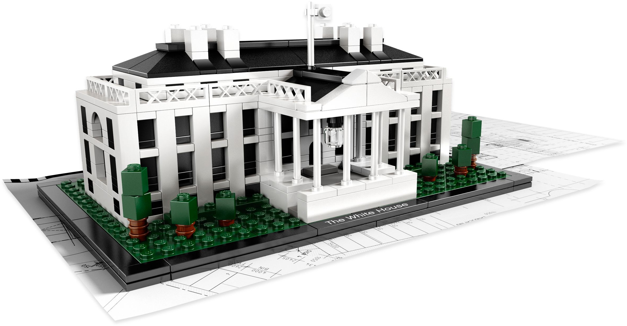Architecture brickset lego set guide and database - Planos de la casa blanca ...