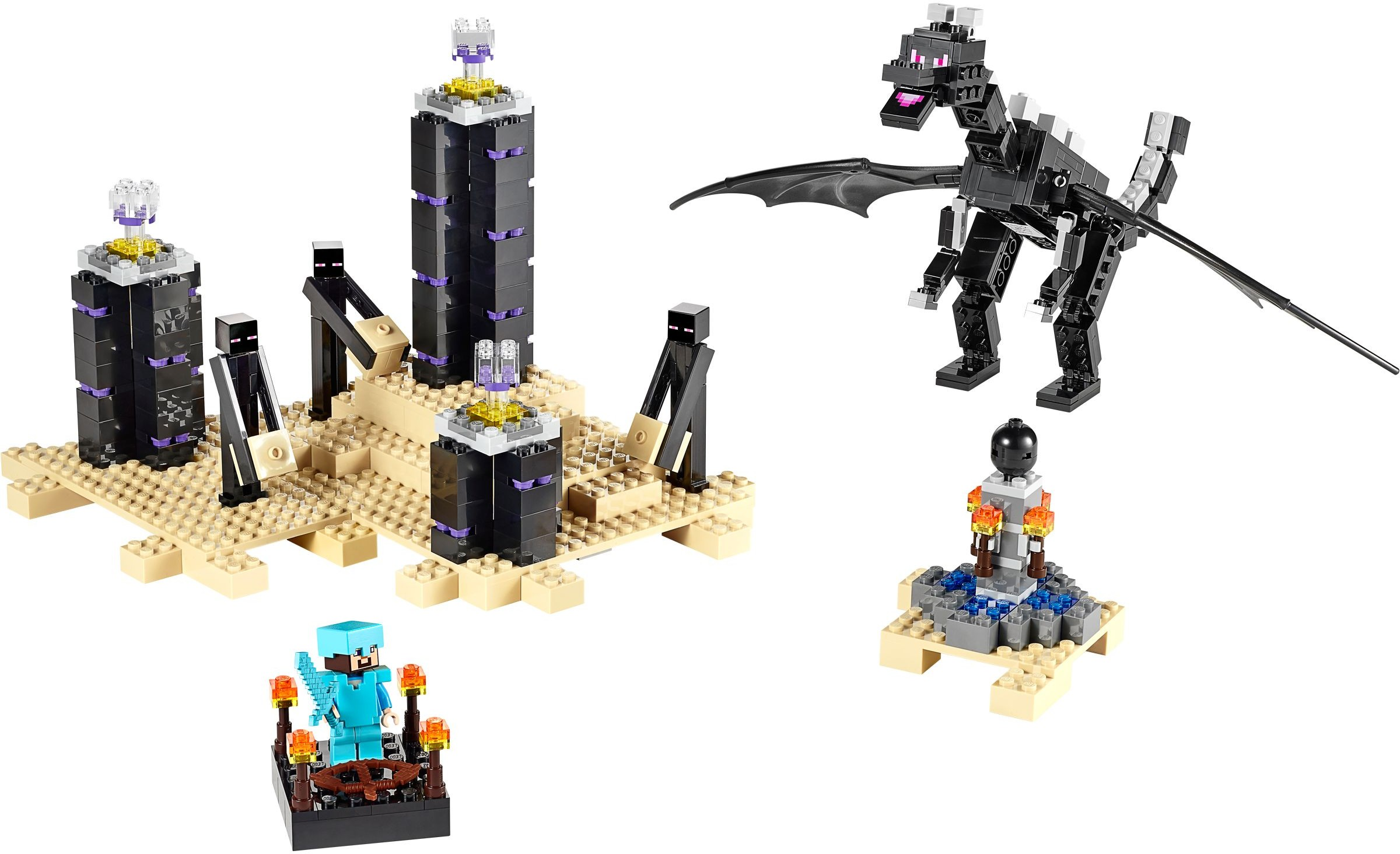 Tagged The End Brickset Lego Set Guide And Database 21124 Minecraft Portal Ender Dragon