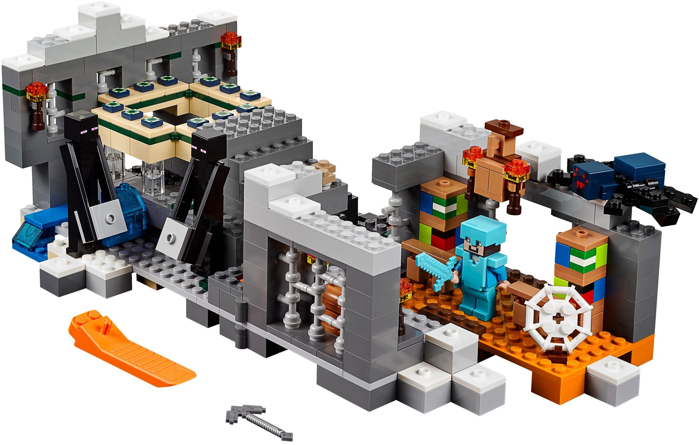 LEGO New Minecraft Gray Furnace Stove Block Piece