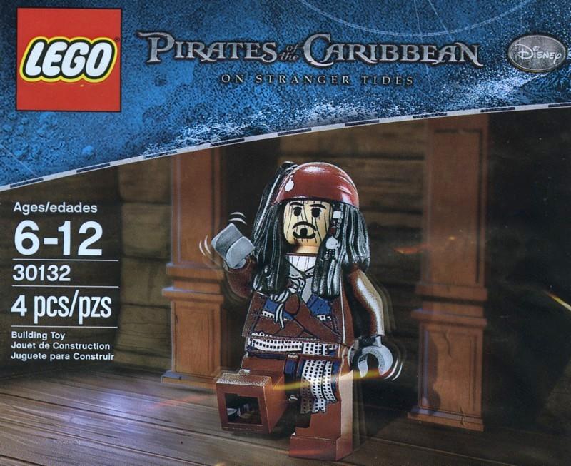 Lego Fluch der Karibik Figur Captain Jack Sparrow Minifig 4183 4191 4192 853219