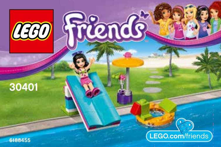 lego friends summer pool instructions