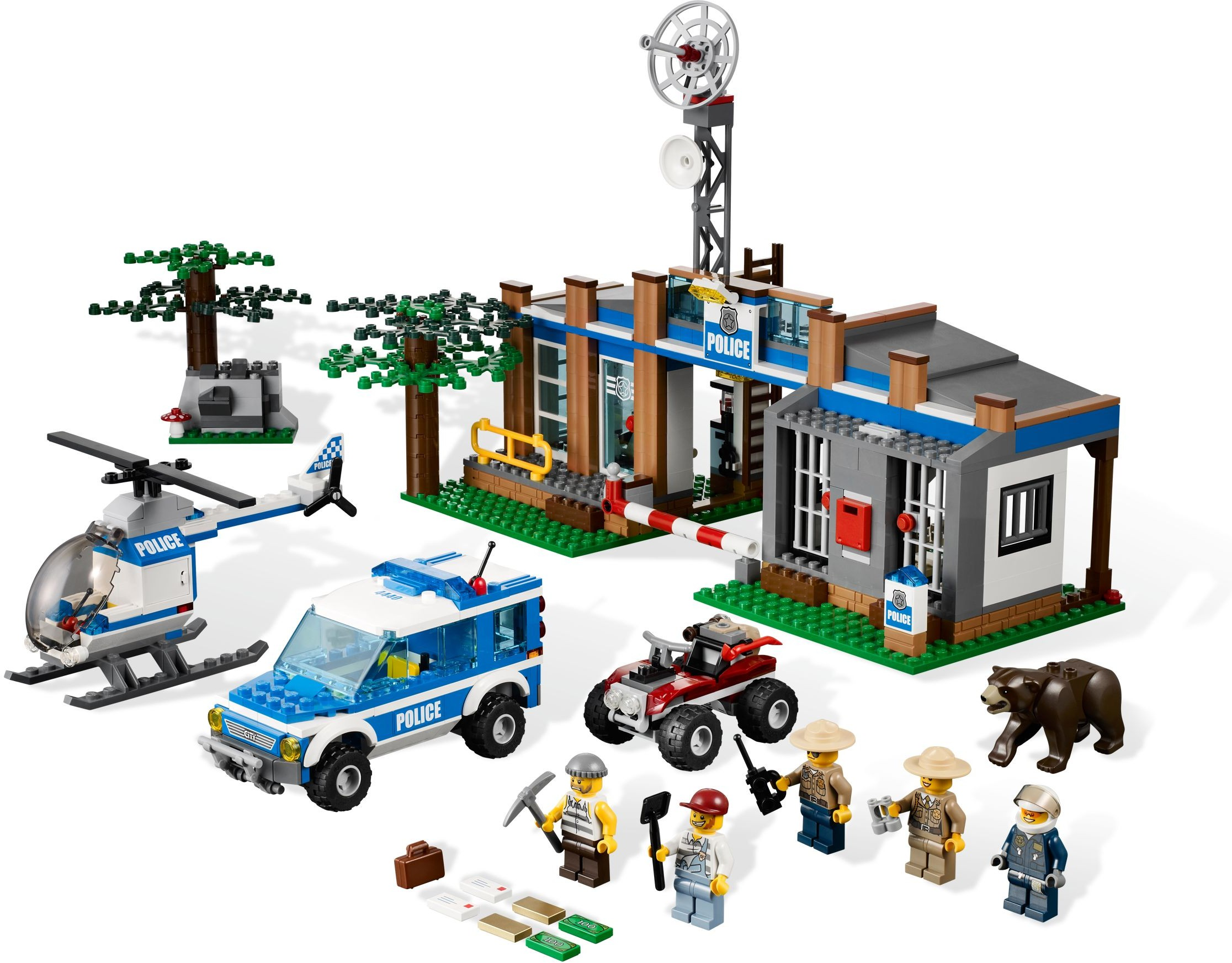 City Tagged Police Station Brickset Lego Set Guide And Database Prison Island Forest