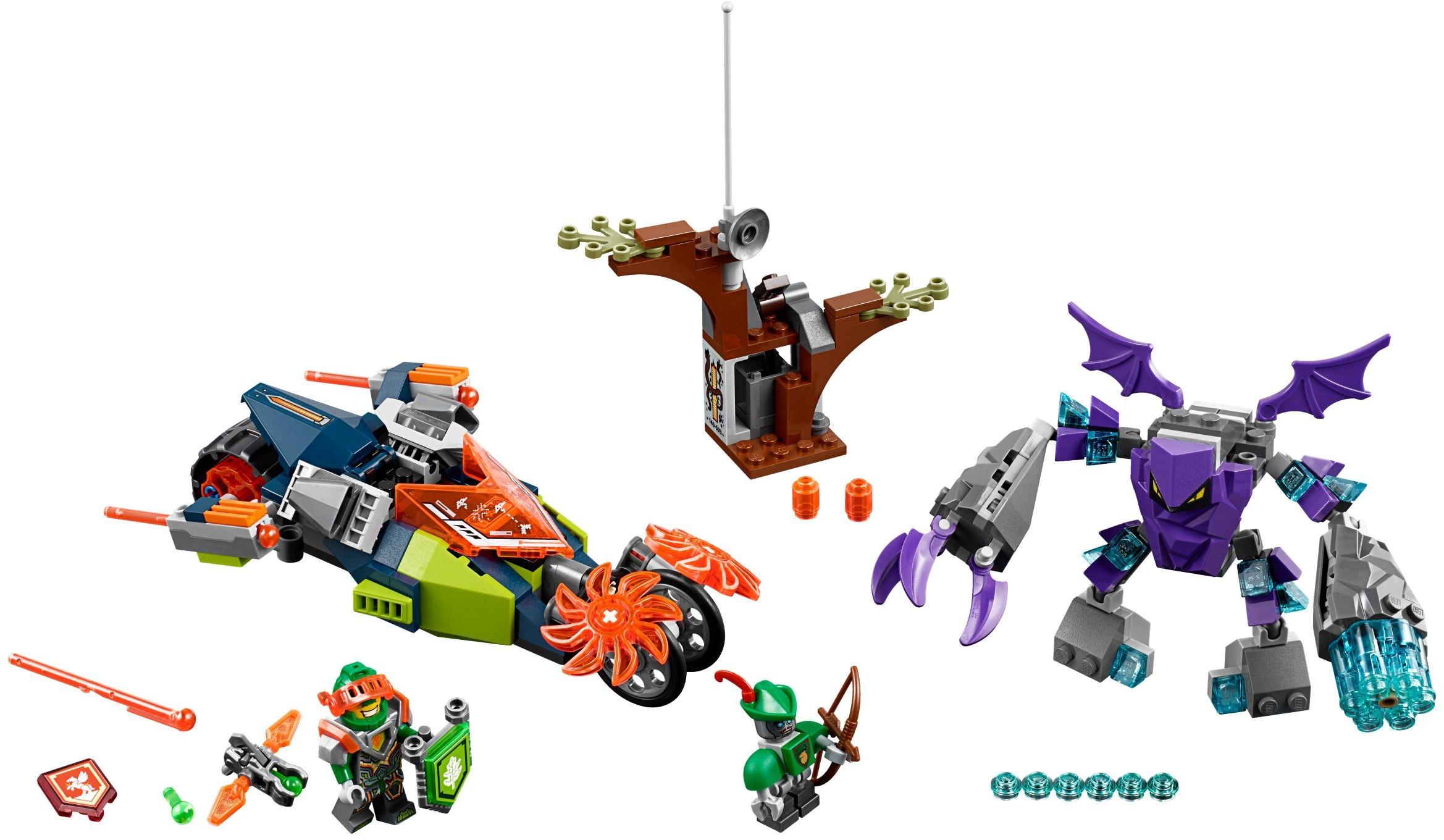LEGO Nexo Knights Brickster Minifigure 70352 Mini Fig Brick Built Season 3