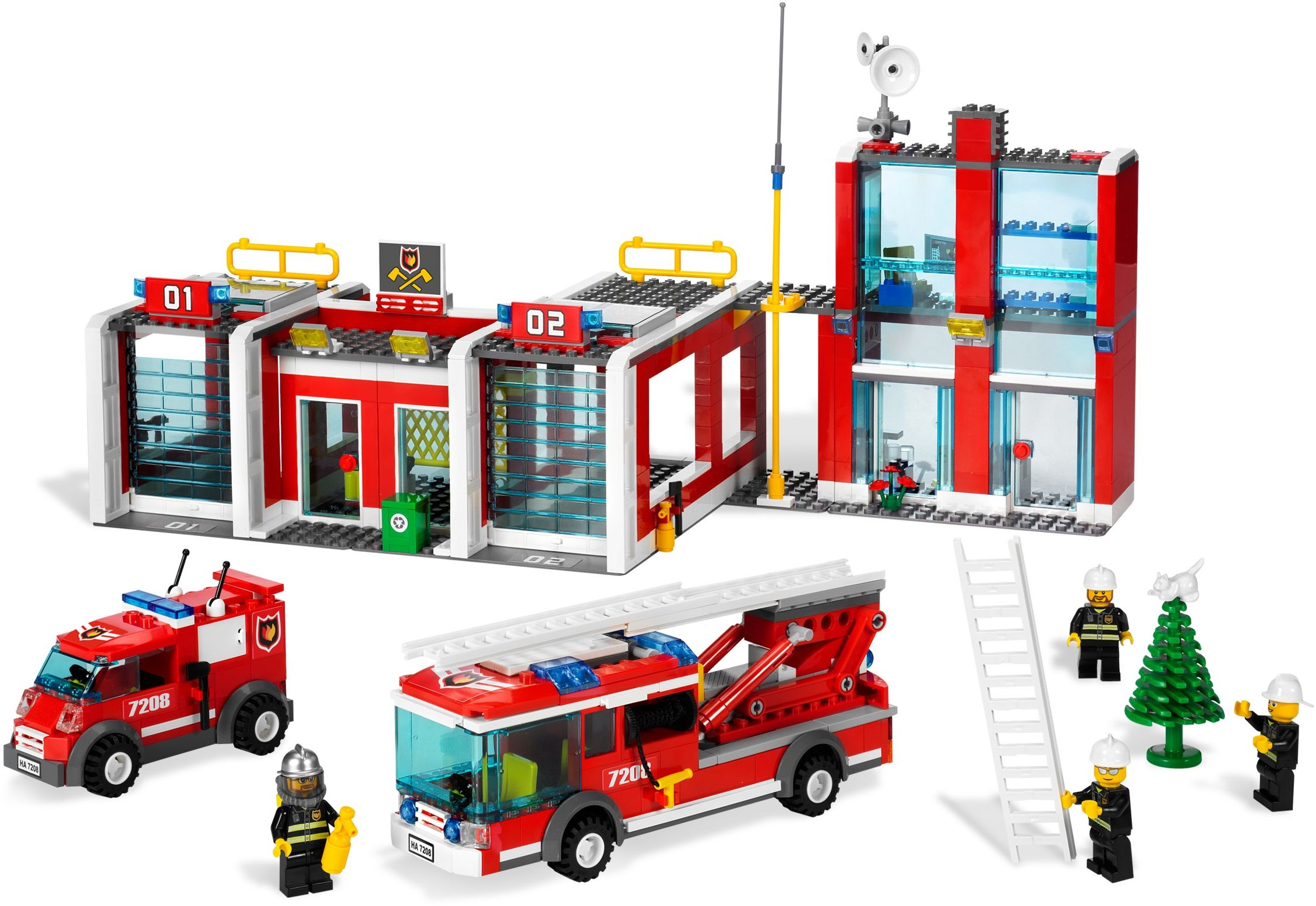 City Tagged Fire Station Brickset Lego Set Guide And Database